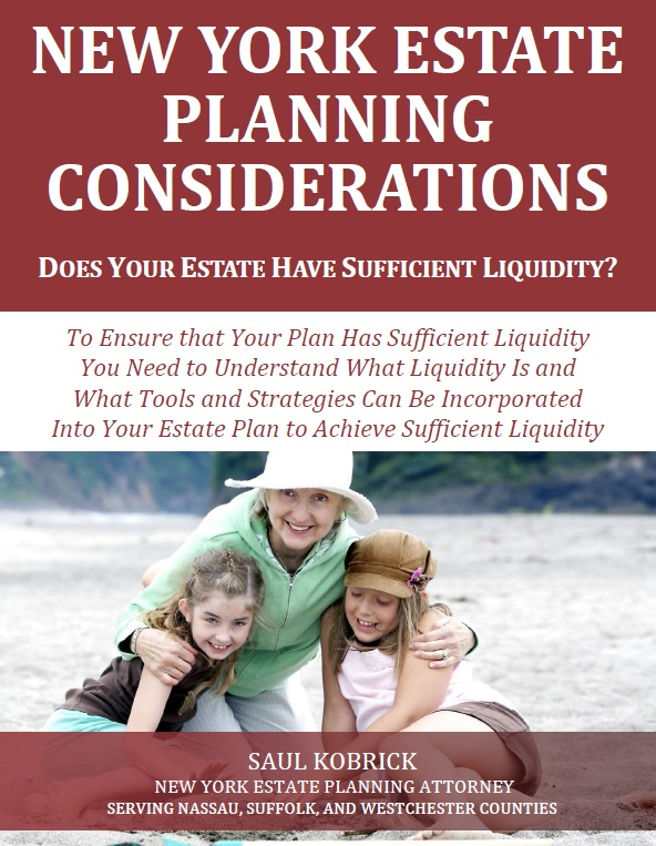 New York Estate Planning Considerations Liquidity